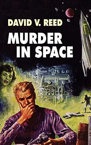 Large book cover: Murder in Space