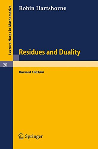 Large book cover: Residues and Duality