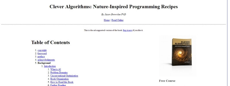 Clever Algorithms: Nature-Inspired Programming Recipes by Jason Brownlee PhD