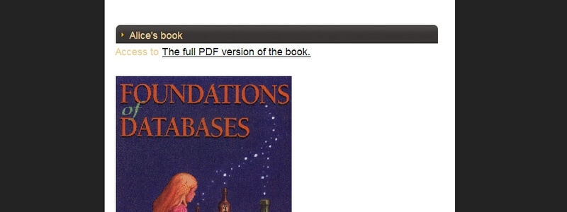 Foundations of Databases by Abiteboul, Hull, Vianu