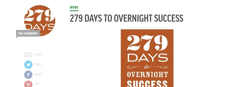 279 Days to Overnight Success: An Unconventional Journey to Full-Time Writing by Chris Guillebeau