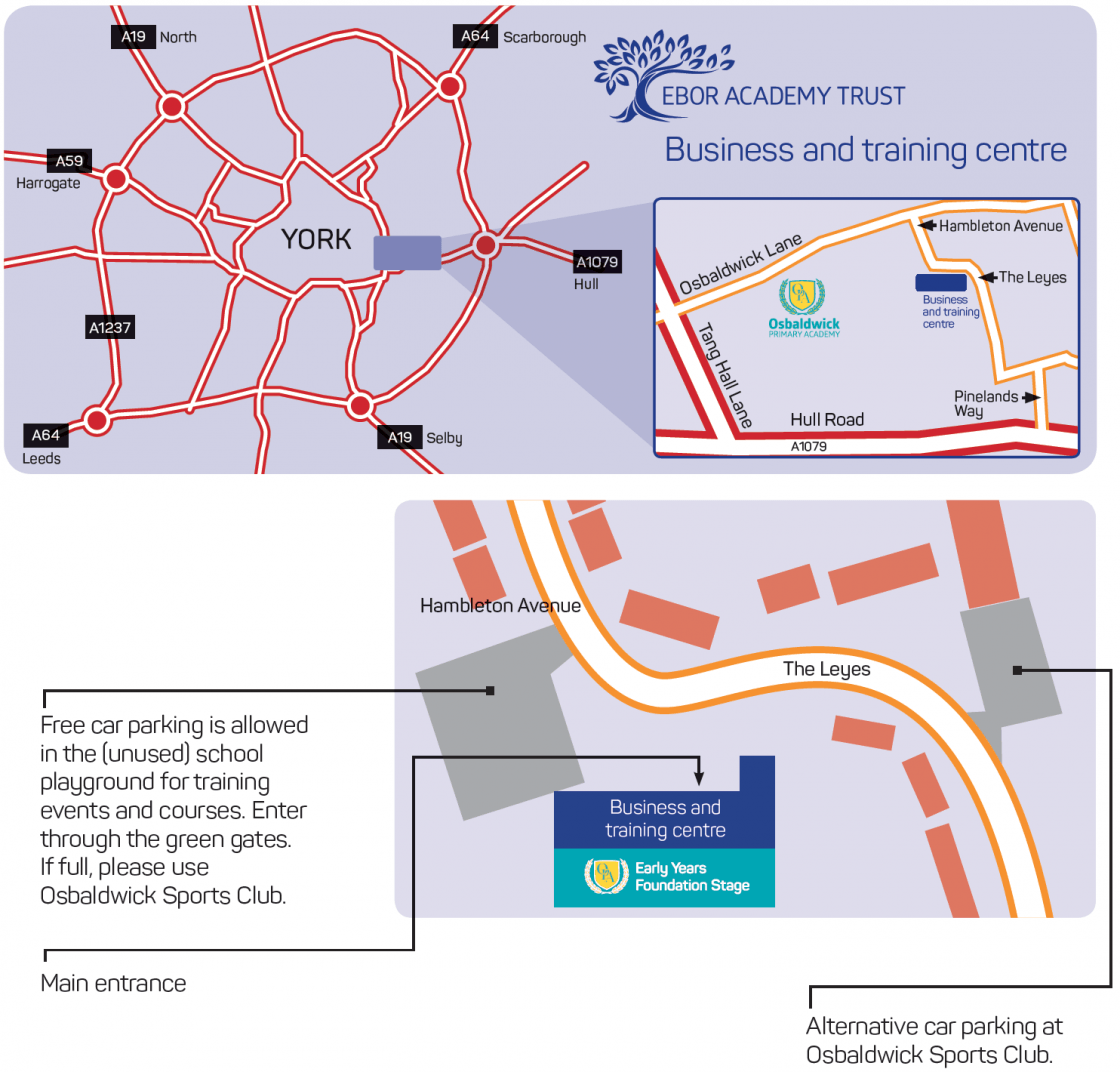 Business and training centre map - Parking