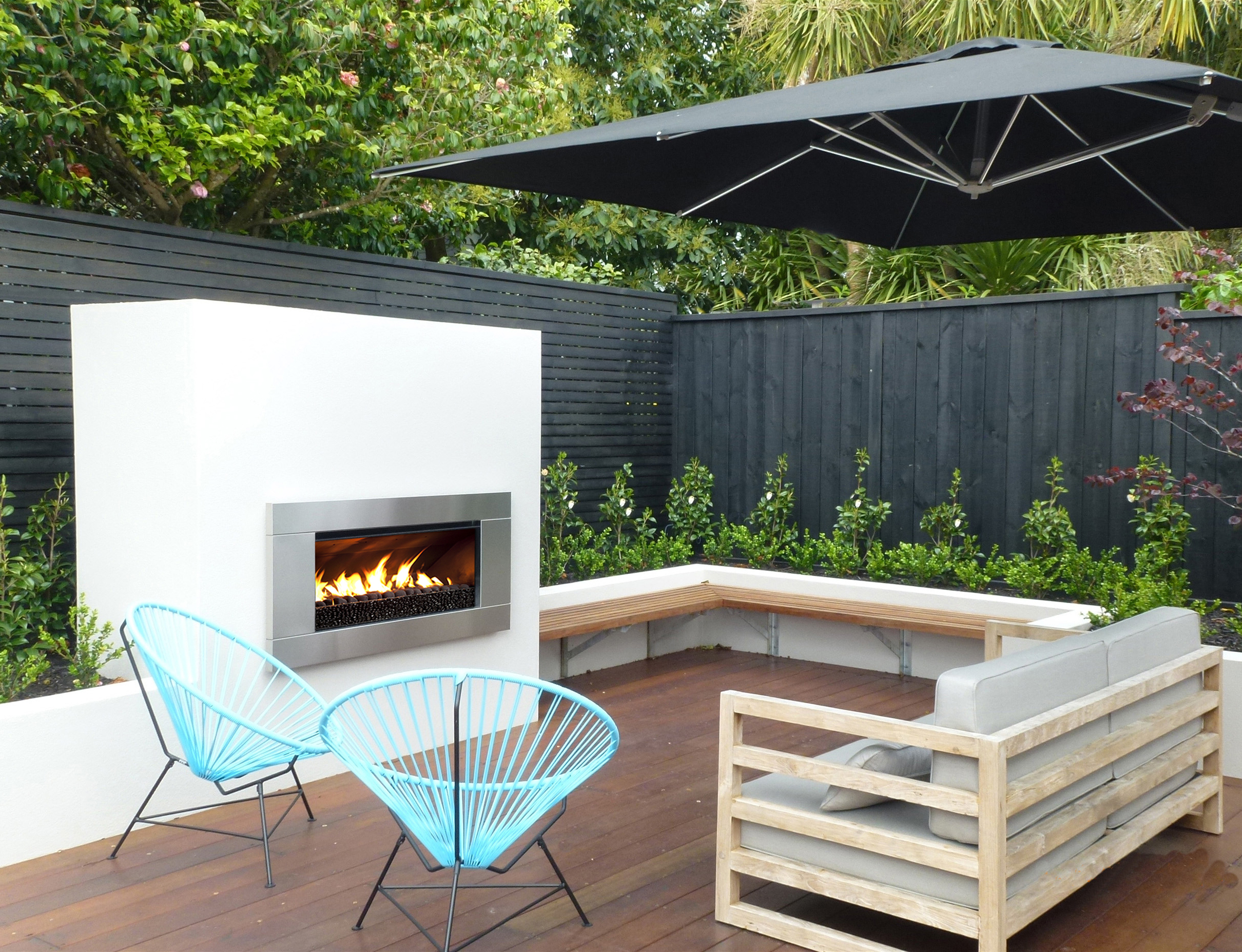 Outdoor Fires: How to Choose Between Gas and Wood - EBOSS on Outdoor Gas Fireplace For Deck id=98811