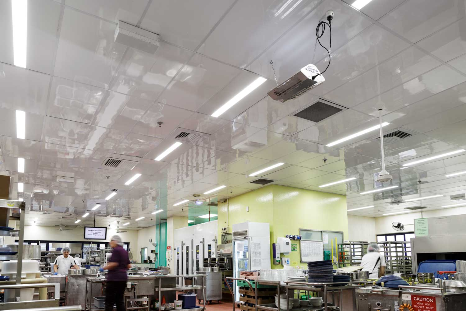 Commercial Kitchen Ceiling Replaced With Low Maintenance
