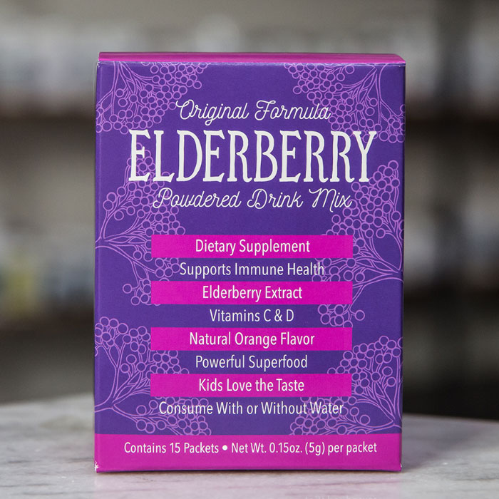Elderberry Powdered Drink Mix - 15 Servings - Effective ...