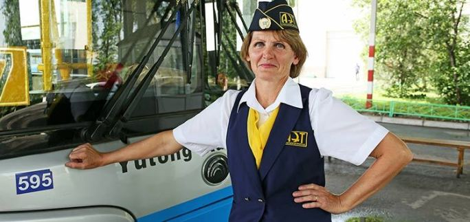 EBRD client AET hires Kazakhstan's first woman bus driver