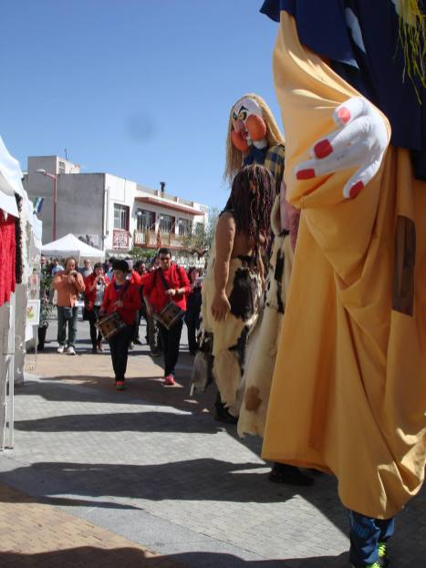Perelló's giants, Bufavents and Airosa. Photo: Maggie Pybus