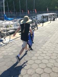 Little girl at marina