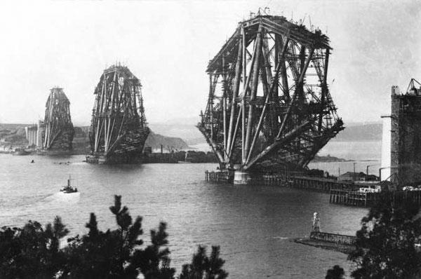 Forth Bridge Under Construction