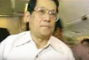 Benigno Aquino, Jr. moments before his assassination