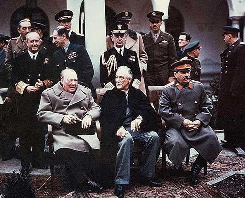Churchill, FDR and Josef Stalin