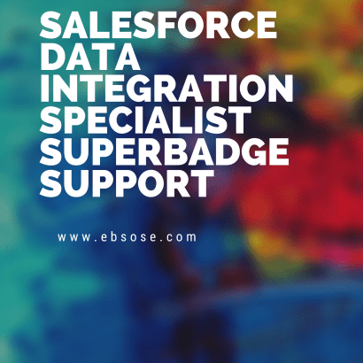 Salesforce Data Integration Specialist Superbadge Support
