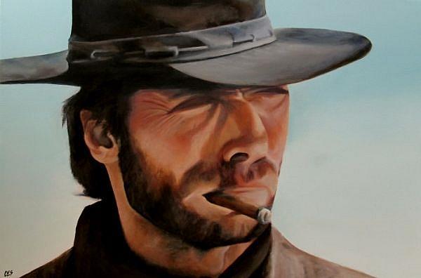 Custom Painting: Clint Eastwood by Christine E Steimer