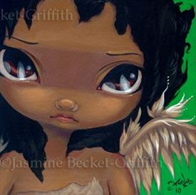 Art: Faces of Faery #68 - Benefit For Haiti Earthquake Relief by Artist Jasmine Ann Becket-Griffith