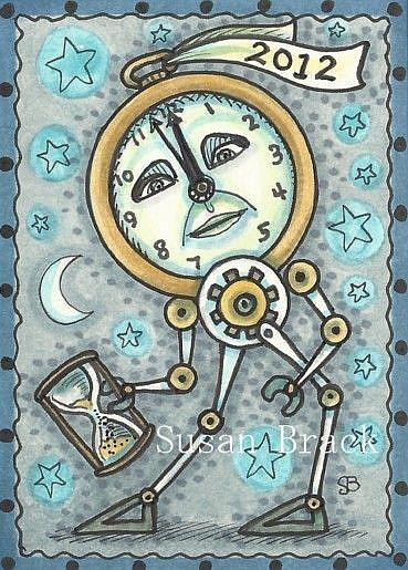 Have a Steampunk New Year by EBSQ Artist Susan Brack