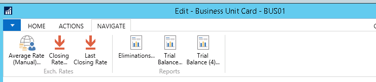 How to run consolidation in NAV2016 im3