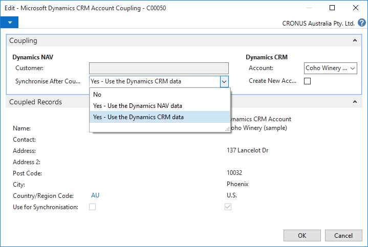 Microsoft Dynamics NAV 2016 native in CRM im15