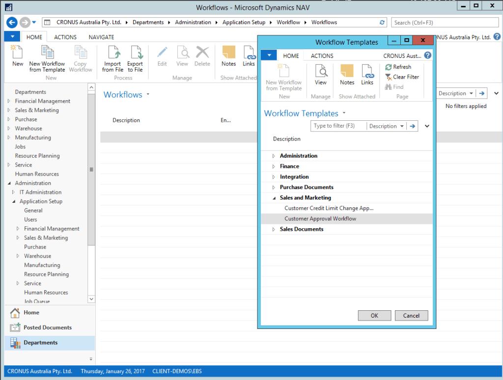Microsoft NAV 2016 workflows im6