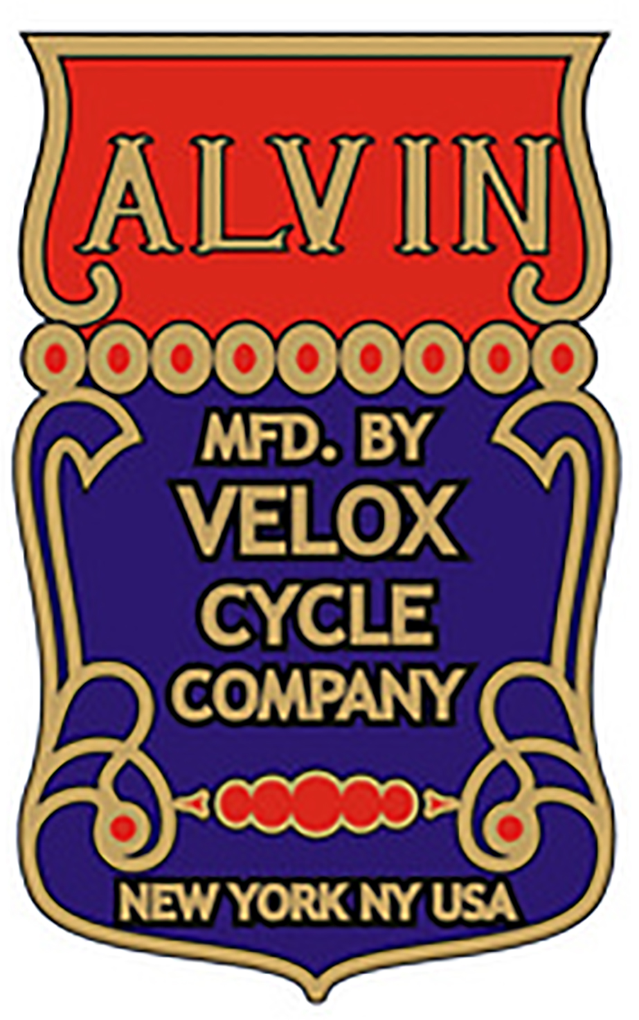 Alvin Velox Cycle Company Head Tube Decal