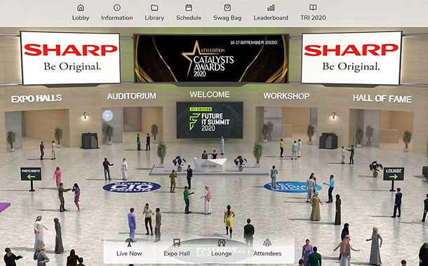 A tour of The Future IT Summit 2020's virtual convention centre