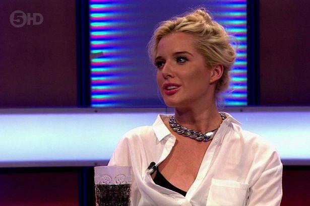 Helen Flanagan wardrobe malfunction during interview