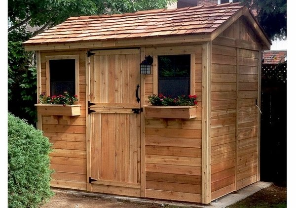 Outdoor Living Today 9x6 Cabana Storage Shed with Dutch Door on Outdoor Living Today Cabana id=88775