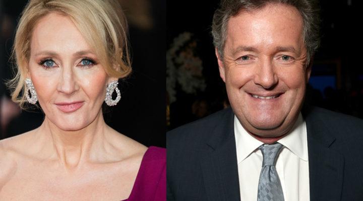 'J.K.Rowling y Piers Morgan'