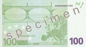 100 euro – strona odwrotna