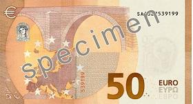 50 euro – strona odwrotna