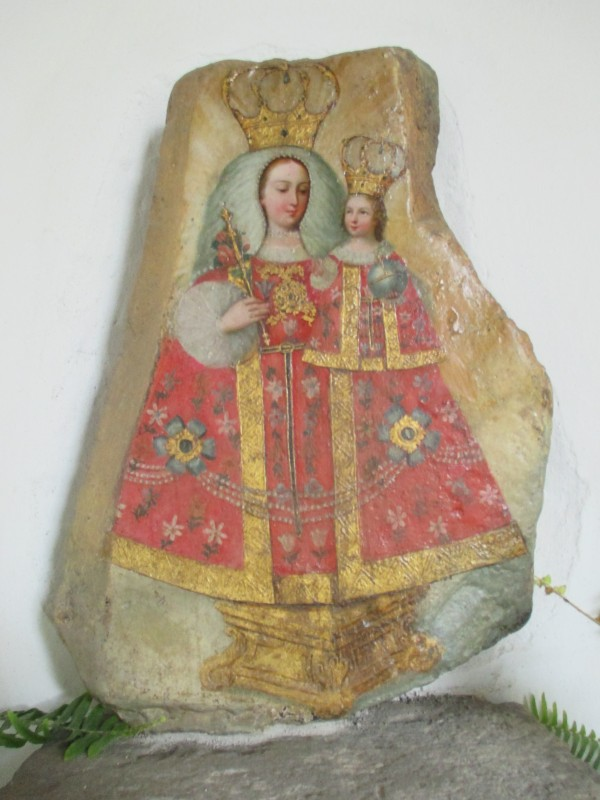 Elegant, but Mysterious Painting on a Stone Which Was Discovered within One of the Convent Walls during Renovations