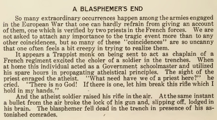 A Blasphemer's End