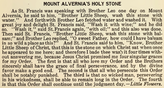 Mount Alvernia's Holy Stone - December 1916