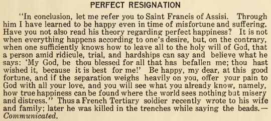 Perfect Resignation - August 1916