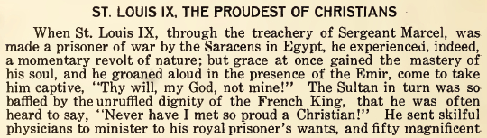 St. Louis IX, The Proudest of Christians - August 1916