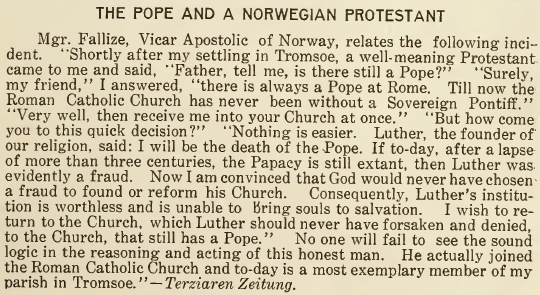 The Pope and a Norwegian Protestant - October 1916