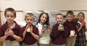 SMCES makes donation to St. Marys Christian Food Bank