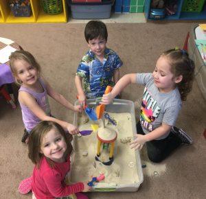 "Preschool students celebrate ""Beach Day"""