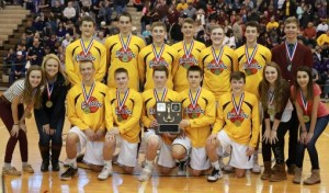"""Crusader basketball team repeats as District 9 """"A"""" champions; tickets now available for state playoff game on Friday"""