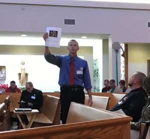 Seminarian Ben Daghir leads presentation at annual diocesan retreat