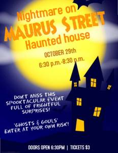 ECCHS Haunted House to be held Sunday, October 29
