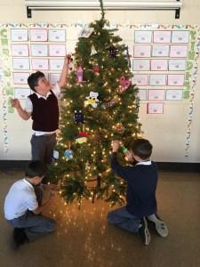 "St. Boniface students decorate school ""Kindness Tree"""