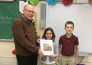 Fourth graders dedicate class book to Fr. Jeff