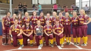 Lady Crusader softball team beats Coudy for district 1A title