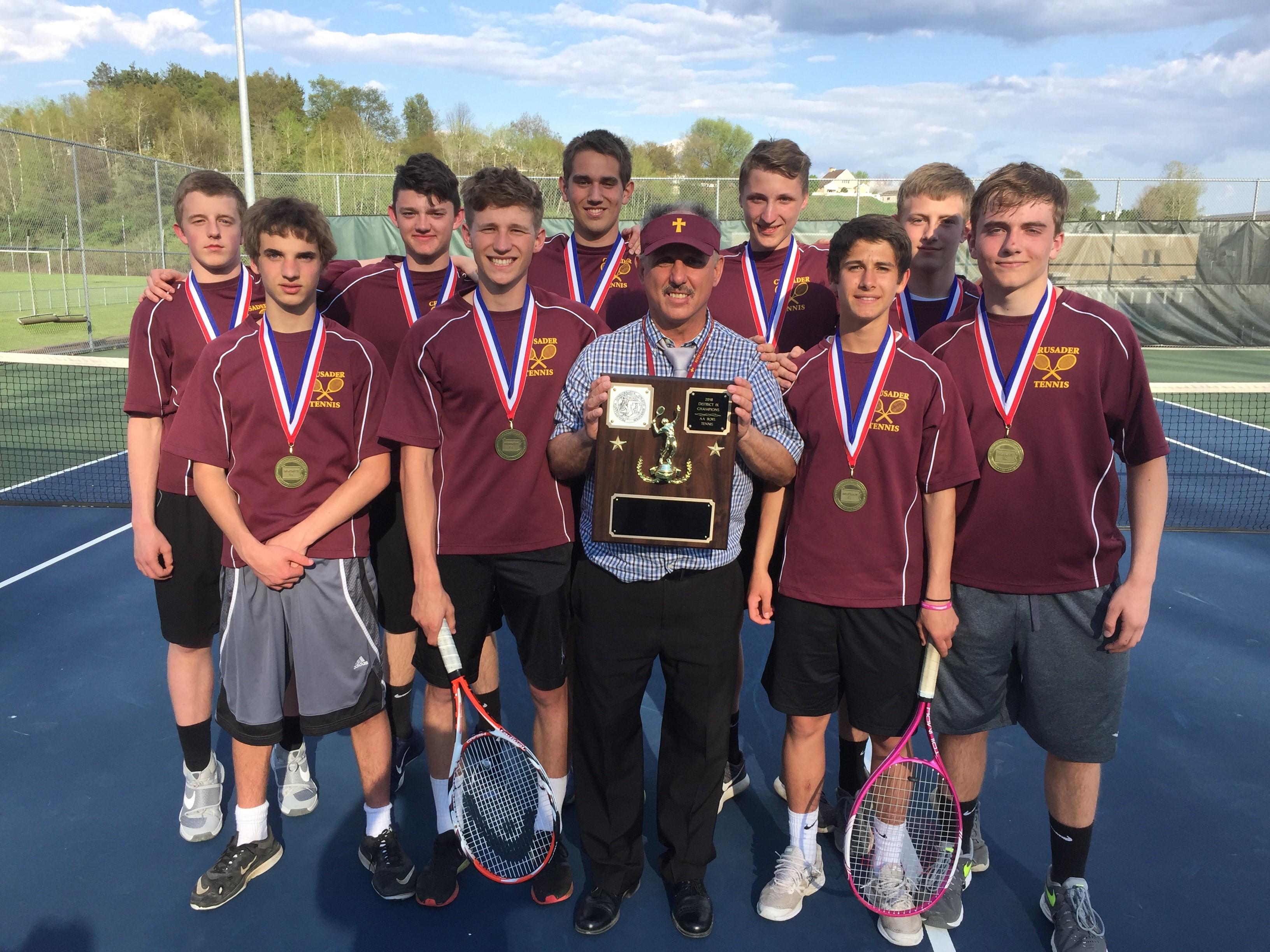 Crusader boys' tennis team having successful season