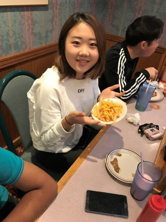 Enjoying lunch on the Kinzua Bridge field trip
