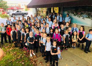 St. Leo students celebrate National Walk to School Day