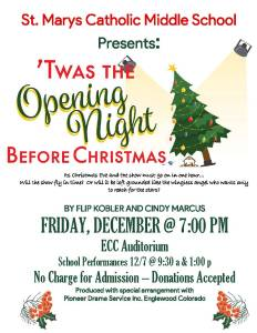 SMCMS proudly presents 'Twas the Opening Night Before Christmas