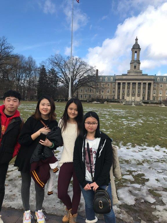 In front of the Old Main Building at Penn State University