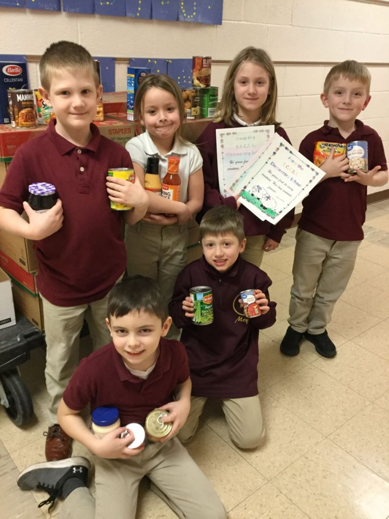 Students collect items for Christian Food Bank