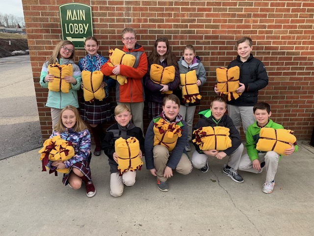 SMCES students construct and deliver blankets to residents of local facilities
